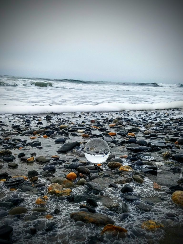 real-life-isolation-glass-ball-on-beach